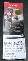 Boleto para el clásico nacional 2009