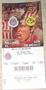 Boleto Clásico Chivas vs América