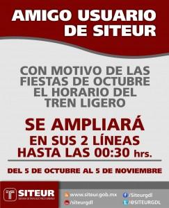Tren Ligero Fiestas de Octubre 2012