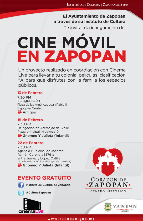 Cine Movil flyer