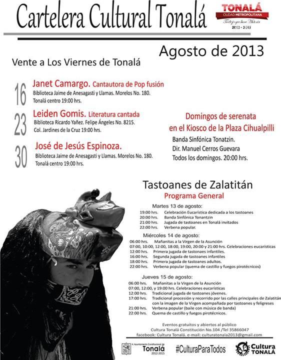Cartelera cultural Tonalá