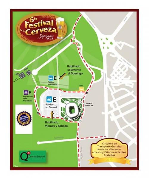 Mapa de ingreso al festival