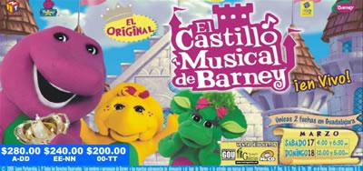 El Castillo Músical de Barney en Guadalajara