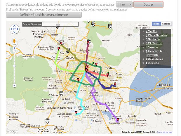 Rutas Nocturnas en Guadalajara