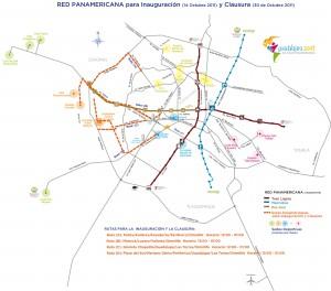 Transporte Inauguración Panamericanos