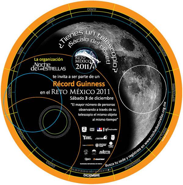 Récord Guinness gente viendo la Luna