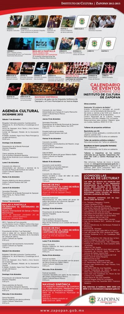 Eventos en Zapopan en Diciembre 2012
