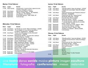 Programa del Festival Cultural Universitario