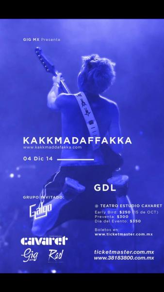 Galgo abre 4 de  Diciembre 2014 en Teatro Estudio Cabaret