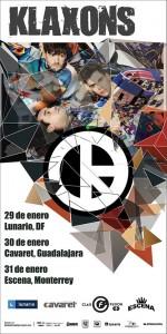 Klaxons, Teatro Estudio Cavaret 30 de Enero 2015, 21:00hrs