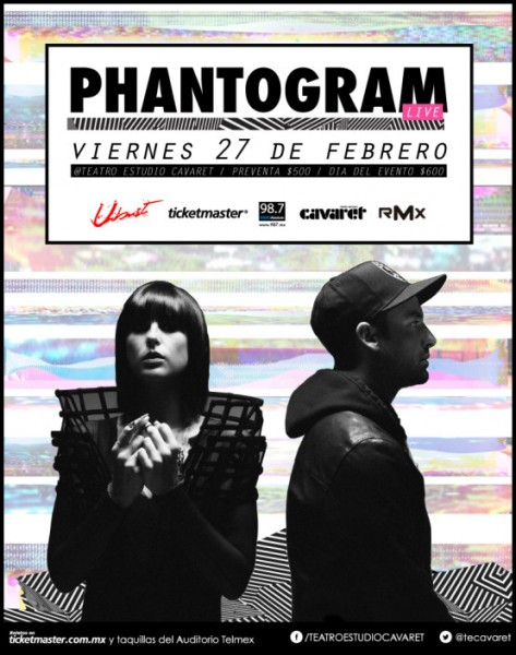 Phantogram Teatro Cavaret 27 de Febrero 2015