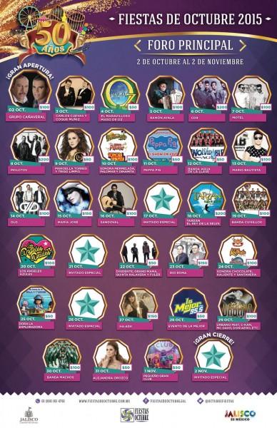 Artistas del Foro Principal 2015