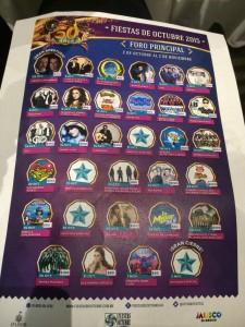 Artistas Fiestas de Octubre 2015
