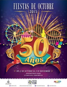 Cartel Fiestas de Octubre 2015