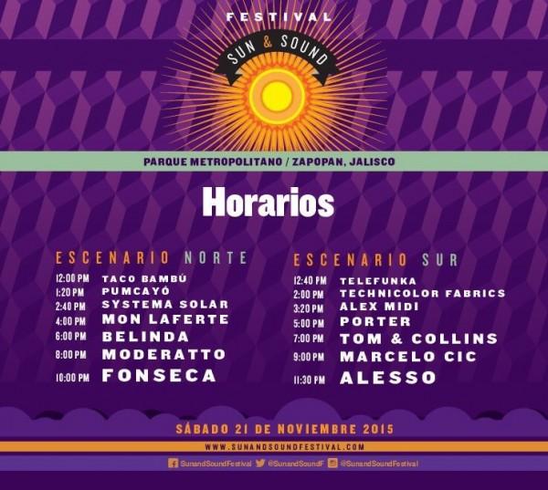 Horarios Sun & Sound
